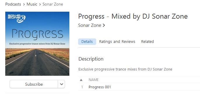 Progress artwork - Sonar Zone