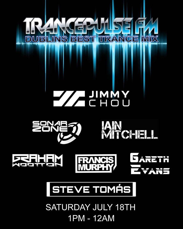 flyer for Sonar Zone, TrancePluse FM